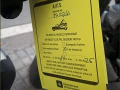 La tolerancia con las motos en la acera en Barcelona acaba en tres días