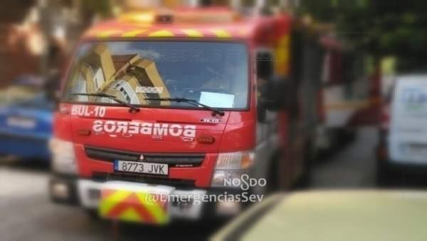 Camión de bomberos del Ayuntamiento de Sevilla