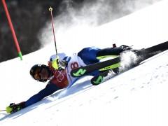 Quim Salarich y Juan del Campo se salen del recorrido del eslalon en los Juegos de Invierno