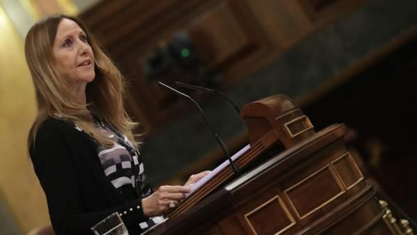 Marta González Vázquez (PP), durante el debate de la enmienda a la totalidad en el Congreso.