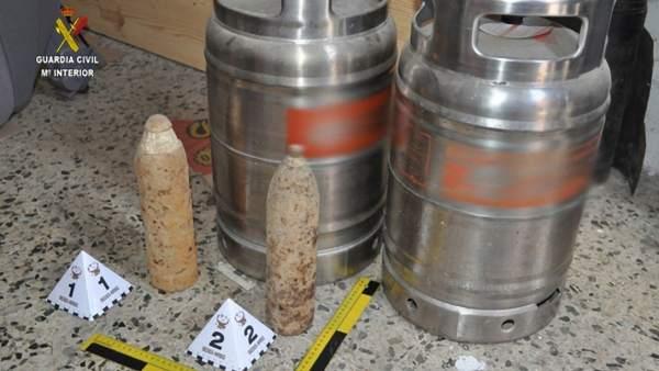 Proyectiles intervenidos en Sevilla