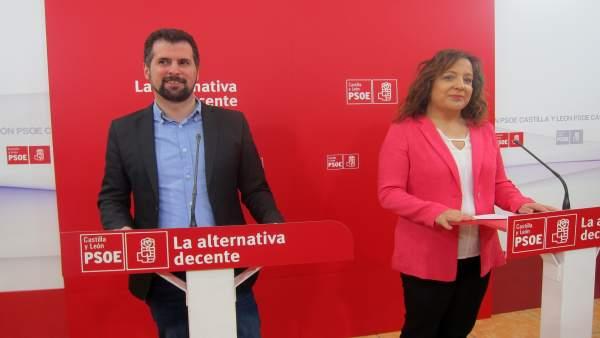 Tudanca junto a Iratxe García.