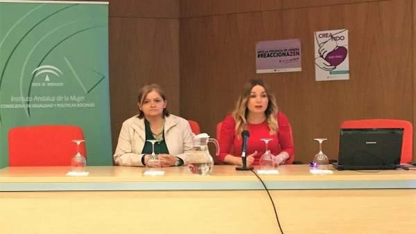 La coordinadora del  IAM) en Cádiz, Josefa Moreno, en rueda de prensa