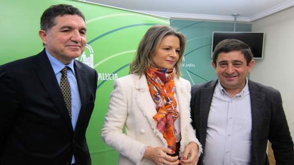 Llanes, Cobo y Reyes presentan el informe para una ITI en la provincia de Jaén.
