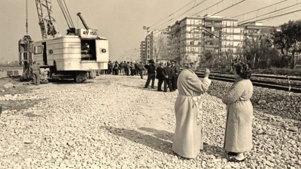 Una de las 80 fotos de 'València en blanc i negre III. El Cabanyal'