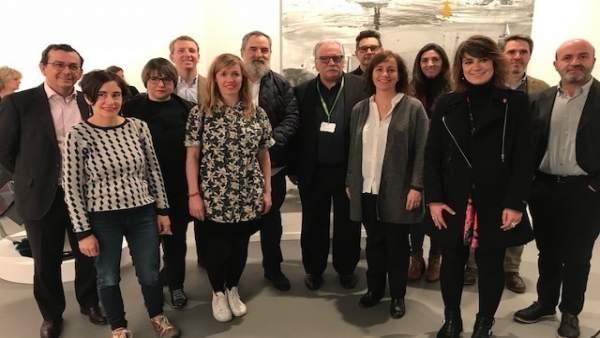 Herrera y Pérez con representantes de Cultura.