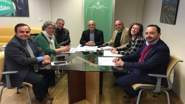 Reunión en el Consorcio de Transportes de Granada