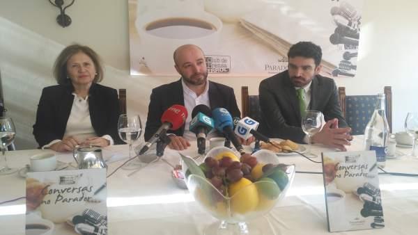 El portavoz de En Marea, Luís Villares, en un acto en Ferrol