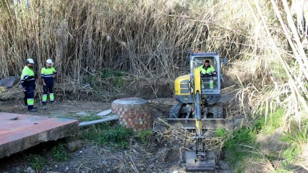 Obras de saneamiento en Estepona