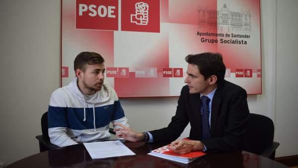 Pedro Casares y Enrique Hierro