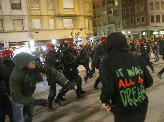 Enfrentamiento entre ultras del Athletic y del Spartak