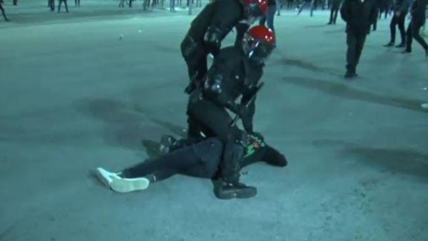 Violentos altercados en los aledaños de San Mamés