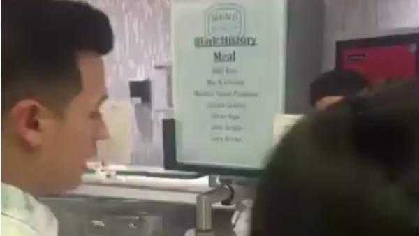 Captura de un vídeo que muestra el menú de la Universidad de Nueva York por el Mes de la Historia Negra.