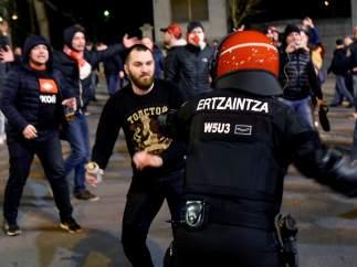 Ultras rusos en Bilbao