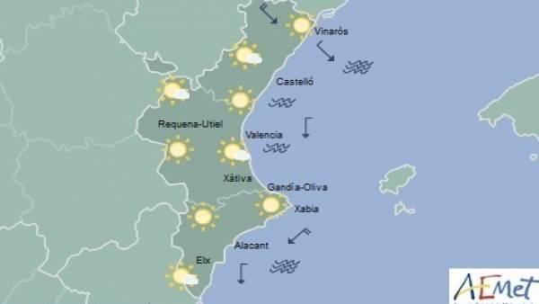 Cels clars aquest divendres a la Comunitat Valenciana amb temperatures que cauran fins als -4ºC