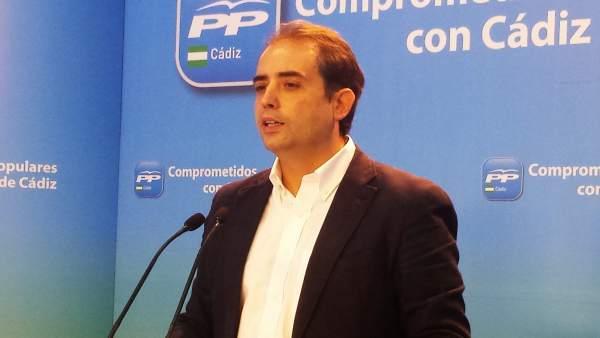 Antonio Saldaña, secretario general del PP de Cádiz