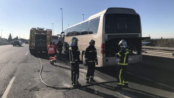 Incendio en autobús