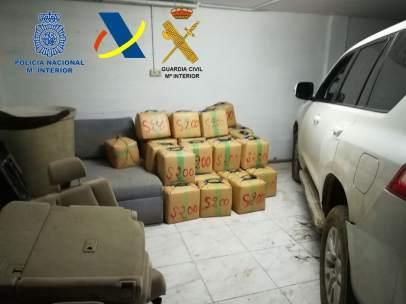 Imagen de archivo de una incautación de droga en La Línea (Cádiz)
