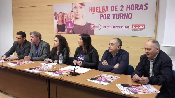 Sordo y Álvarez ofrecen una rueda de prensa antes de la asamblea con delegados