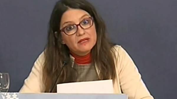 Oltra en la rueda de prensa posterior al pleno del Consell en Alicante