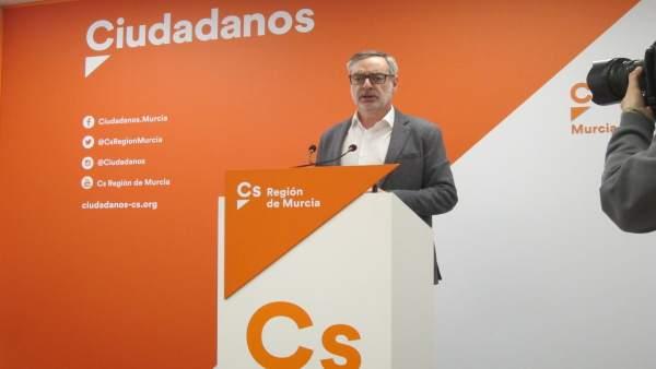El secretario general Ciudadanos, José Manuel Villegas, en sede Cs Murcia