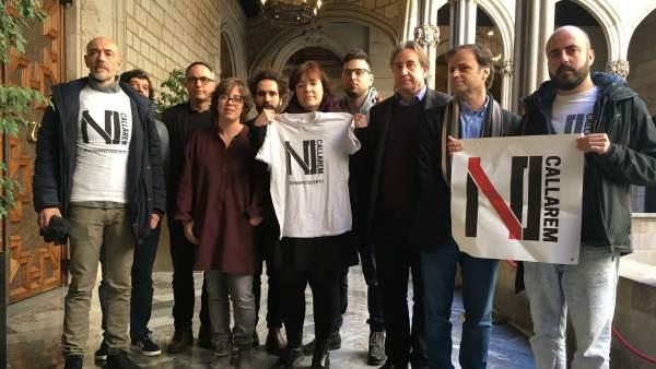 Concejales de Barcelona apoyan al rapero condenado Valtonyc.