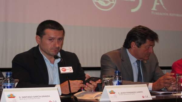 Javier Fernández Lanero (UGT) y el presidente asturiano Javier Fernández