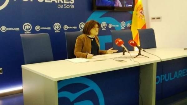 Angulo durante la rueda de prensa