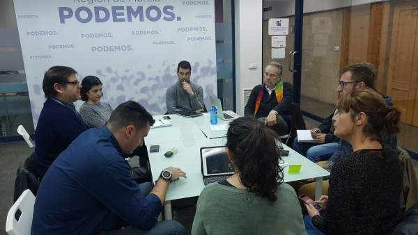 El diputado estatal de Unidos Podemos, Pedro Arrojo en Murcia