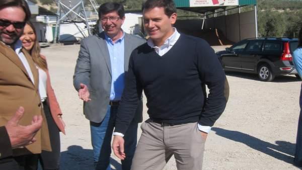 Rivera, a su llegada a la cooperativa