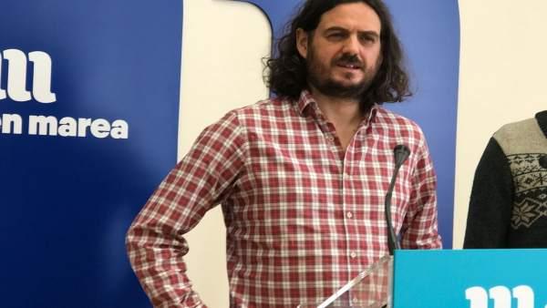 Antón Sánchez, En Marea, en rueda de prensa