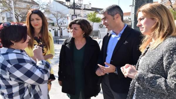 García, Lima, Navas y camarera de piso moción contra la precariedad