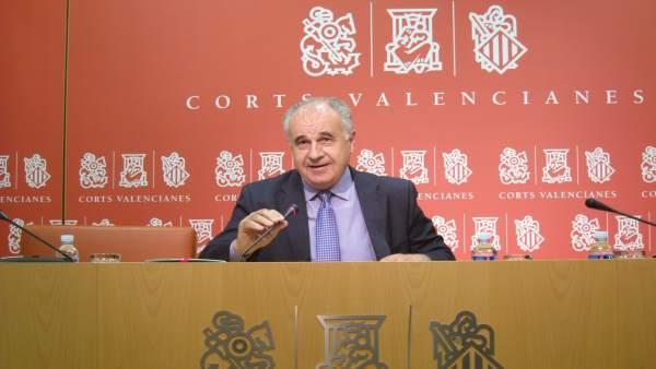 Rafael Blasco en imagen de archivo cuando era síndic del PP en las Corts