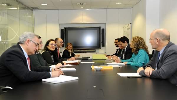 Imagen comisión de seguimiento para la integración ferroviaria de Cartagena
