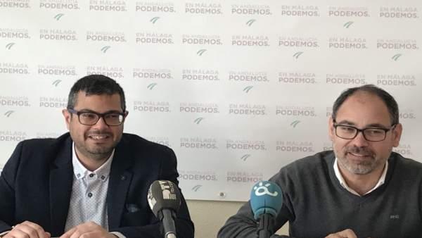 Juan Antonio Gil portavoz Podemos parlamentario Salud y Alberto Montero