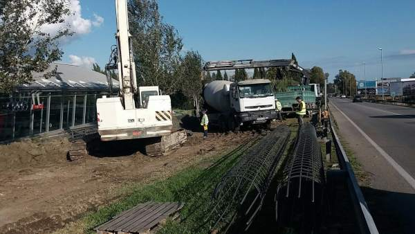 Obras pasarela peatonal san pedro alcántara marbella A-397 seguridad vial junta