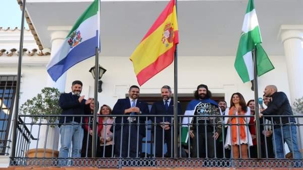 Regino Hernández recibido en Mijas