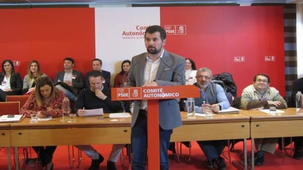 Luis Tudanca interviene en el Comité Autonómico
