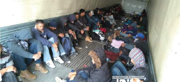 Rescate de inmigrantes en México