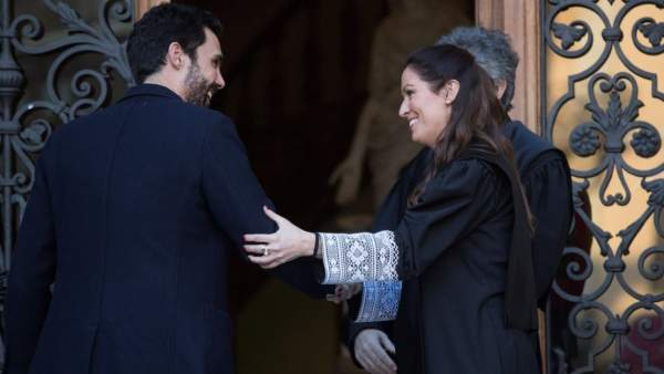 Roger Torrent y Maria Eugenia Gay