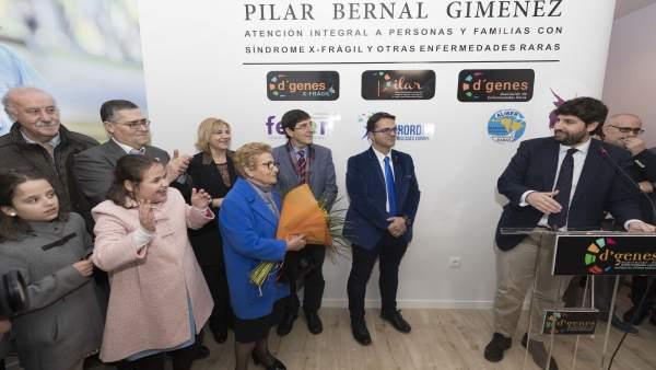 El presidente de la CARM, López Miras, inaugura el centro 'Pilar Bernal'