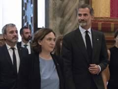 Ada Colau y la Generalitat no recibirán al rey en el MWC