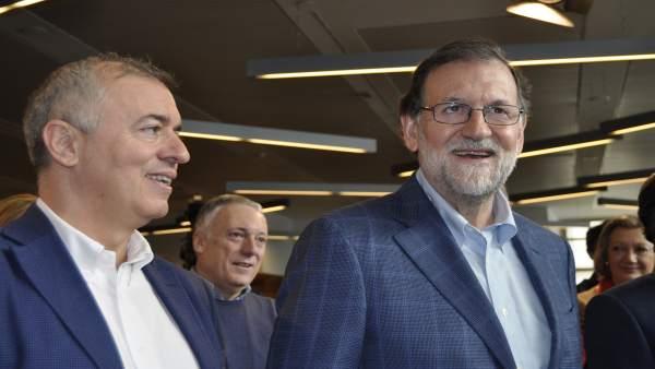 Mariano Rajoy y Javier Campoy (PP).
