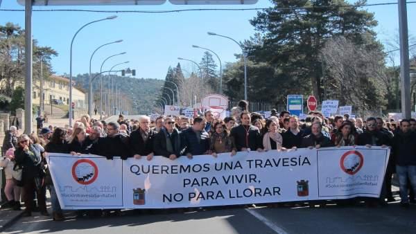 Segovia.- Cabecera de la manifestación