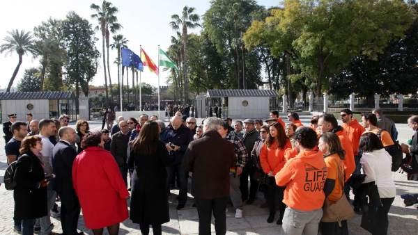 Jornadas de puertas abiertas en el Parlamento de Andalucía