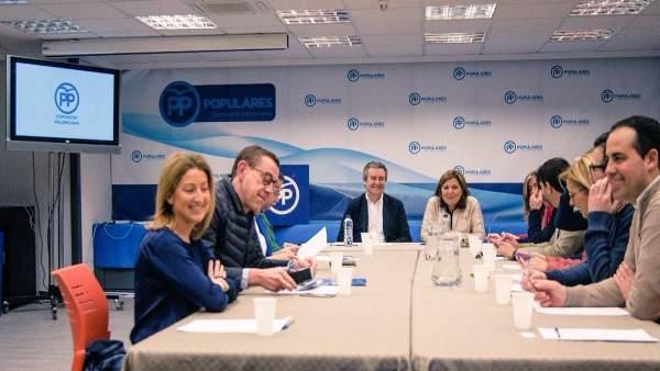 Reunión de la Gestora provincial en la sede del PPCV