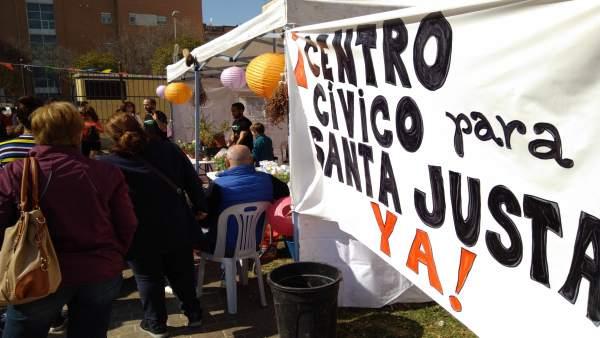 Gramática Urbana organiza reivindica un centro cívico en Santa Justa