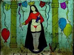 Una virgen en tanga busca desenmascarar a los falsos devotos en Bolivia