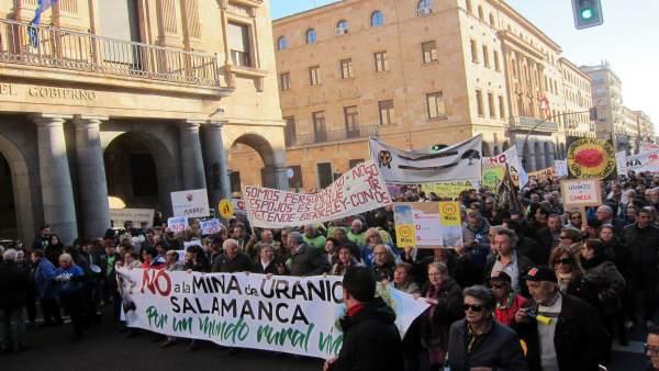 Salamanca.- Cabecera de la manifestación en Salamanca