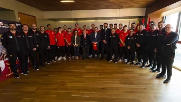 Mariano Rajoy Dolors Montserrat selección española baloncesto